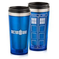 It's my coffee and Docter who dreams come true! A Doctor Who 16oz Travel Mug and it's only $12