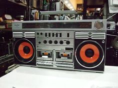 Vintage boombox ghettoblaster. TOSHIBA RT-S83R.....................Please save this pin.   .............................. Because for vintage collectibles - Click on the following link!.. http://www.ebay.com/usr/prestige_online
