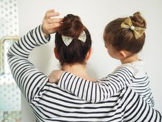 Tuto : Un semainier de nœuds pour les cheveux. - Saxe