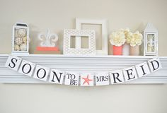 NAUTICAL Bridal Shower, Soon To Be Mrs Banner, Bridal Shower Banners, Bachelorette Party, Soon To Be, Starfish, Coral Bridal Shower, B200 by ABannerAffair on Etsy https://www.etsy.com/listing/217161971/nautical-bridal-shower-soon-to-be-mrs