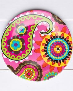 ceramic plates colorful houses designs - Google Search