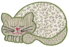 Contented Cats Applique Set 1 Large - Aljay Designs | OregonPatchWorks