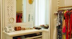 Closet organization tips.