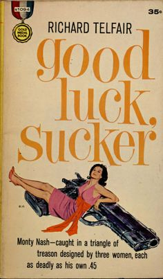 pinterest.com/fra411 #pulp - Book cover illustration by Mitchell Hooks, 1961. #20thCmod