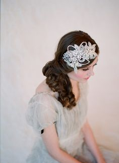 headband, rhinestone and crystal, bridal hair - Glimmering rhinestone headband - Style 132 - Made to Order