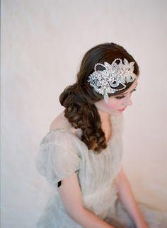 headband, rhinestone and crystal, bridal hair - Glimmering rhinestone headband - Style 132 - Made to Order