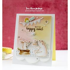 I want this set.  wplus9+happy+mail   WPlus9 Design Studio Clear Stamps, Happy Mail