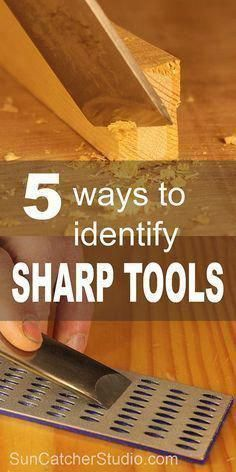 Woodworking For Kids Learn 5 ways to identify sharp woodworking tools including: fingernail test, thumb test, end grain test, light test, and paper test. Used Woodworking Tools, Woodworking Projects For Kids, Woodworking Patterns, Woodworking Techniques, Popular Woodworking, Woodworking Classes, Woodworking Furniture, Diy Wood Projects, Woodworking Crafts