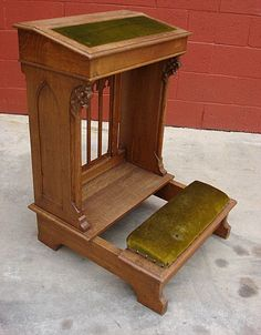 prayer bench with a top that opens!