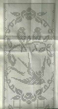 Crochet Curtain Pattern, Crochet Angel Pattern, Crochet Applique Patterns Free, Crochet Table Runner Pattern, Crochet Doily Diagram, Filet Crochet Charts, Crochet Bedspread, Crochet Curtains, Tapestry Crochet