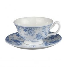 Blue Chintz Cup Saucer