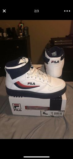 new concept f93b6 eb30d Product One of the original colors was the white blue red color  combination. FILA