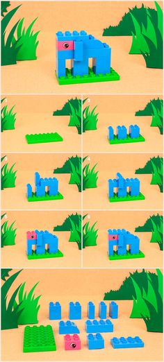 Niedlicher Elefant aus LEGO DUPLO Steinen / Bauanleitung für einen Safari-Elefanten - Artikel - Family LEGO.com