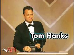 Greatest speech about film. I love this so much!  Tom Hanks Accepts the 30th AFI Life Achievement Award in 2002 - YouTube