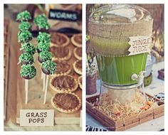 Grass Pops & Jungle Juice - Safari Theme Birthday