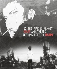 """Mikoto - """"So the fire is almost out and there's nothing left to burn."""" 