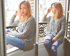 Wioletta Mary Kate - Romwe Sweater, Frontrowshop Pants - Paris Morning