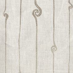 Printed Linens:Spiral White Taupe