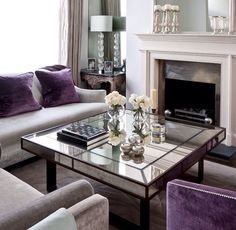 Purple Living Room Decor Design Ideas, Pictures, Remodel And Decor Part 66