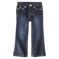 Cherokee® Infant Toddler Girls' Denim Jeans - Dark Blue 3T