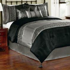 AnnasLines   Gala Black 7 Piece Comforter Set $49.99