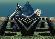Labyrinthine Love - Julien Pacaud • Illustration • Perpendicular Dreams