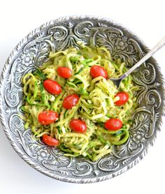 This Pesto Zucchini Spaghetti is a fabulous low-carb, healthy meal that your whole family will enjoy.