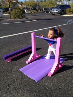 Diy Gymnastics Gym For Mckenna Includes Uneven Bars