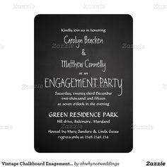 Vintage Chalkboard Enagement Party