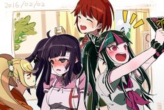 Saionji Hiyoko,Tsumiki Mikan,Koizumi Mahiru,Ibuki Mioda | Super DanganRonpa 2.