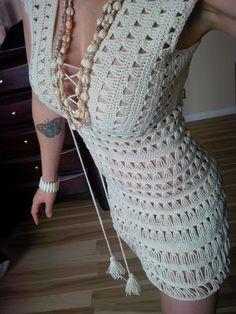 PATTERN ONLY Just Go With it Jennifer Aniston Crochet Dress