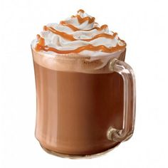 Caramel Hot Chocolate ❤ liked on Polyvore featuring food and random
