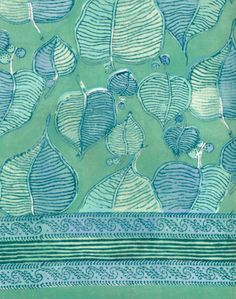 Anokhi USA: Mung Leaves cotton scarf woodblock prints from Anokhi would be in every room of my home.