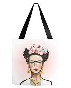 Frida with Pink Tote Bag