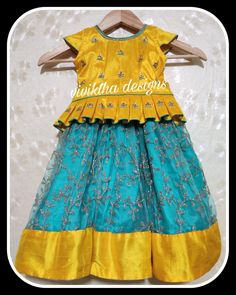 Best 12 Image may contain: people standing – SkillOfKing. Kids Party Wear Dresses, Kids Dress Wear, Kids Gown, Little Girl Dresses, Kids Wear, Kids Frocks Design, Baby Frocks Designs, Kids Lehanga Design, Lehanga For Kids