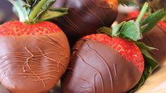 Premium Long Stem @driscollsberry shipped in from California and hand dipped in @Valrhonausa Milk and Dark Chocolate.