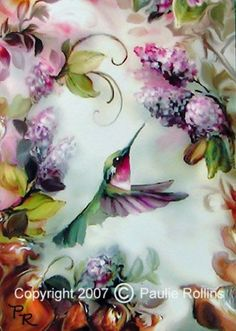 By Paulie Rollins Cute Birds, Pretty Birds, Beautiful Birds, Hummingbird Pictures, Hummingbird Art, Gb Bilder, China Painting, Watercolor Bird, Art Portfolio