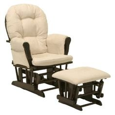 """Stork Craft Hoop Glider and Ottoman for $101.00, you save 44%. Also """"LIKE"""" us on facebook at http://www.facebook.com/pages/Baby-Boomers-Galore/556695084359718"""