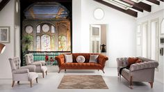 Charles Salon Takımı Gallery Wall, Couch, Modern, Furniture, Chester, Allah, Salons, Home Decor, Dining Room