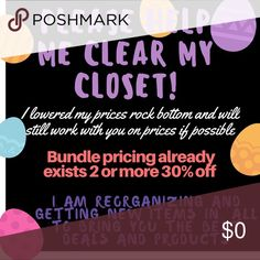 I have to reorganize and get things in order. I have some amazing deals in my closet at fantastic prices. My goal is to clear out and replenish with even more great things. I want you to have items that last or are perfect for your occasions. My idea about fashion is to wear a lot of basics. Comfy. Dress them up or down. And add in special pieces for extra umph. But why not get things you'll wear for a great period of time. Recouping the price you pay over and over. I'm searching hard for…