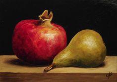 Jane Palmer (b.1974)  —  Pomegranate & Pear (1280x905)