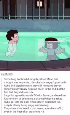 Sapphire and Ruby may be mad at each other, but they still love Steven.