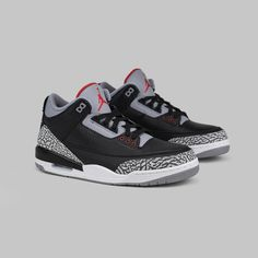 """15319fbe4e50e9 G O A T on Instagram  """"The Air Jordan 3  Black Cement  is a true fan  favorite. Available on the app and goat.com."""""""