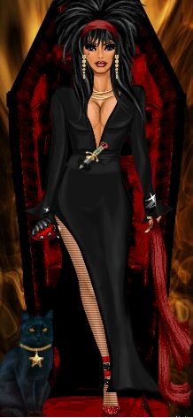 DC Halloween: Diva Costume Dress Up - goldensunshine as Elvira