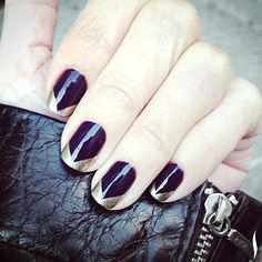 A new twist on the classic French mani from the always-amazing @tenoverten_nyc. #nails #nailart #Sephora