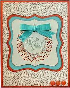 I love both of the Close To My Heart stamps used to create this adorable card.