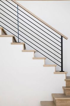 Treppen Stairway Railing Ideas Savvy and Inspiring stair and railing stairs Ideas Inspiring railing Savvy stair stair railing ideas staircaserailings Stairway Treppen Wood Stair Treads, Modern Stair Railing, Stair Railing Design, Iron Stair Railing, Metal Stairs, Stair Decor, Staircase Railings, Modern Stairs, Stairways