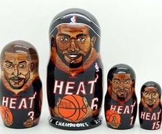 Show your favorite sports franchise some Russian-styled love with the sports teams nesting dolls. These nesting dolls feature quality craftsmanship from...