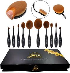 Sancan Professional 10Piece Soft Oval Makeup Brush Set * Want to know more, click on the image. (Note:Amazon affiliate link)