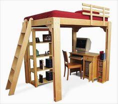 Muebles de dormitorio para espacios reducidos buscar con - Como hacer una litera ...
